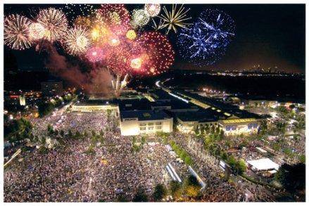 NYE Fireworks at Lenox Square