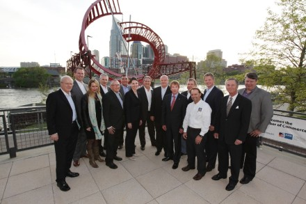 The GACC South Board of Directors with Nashville skyline in the background
